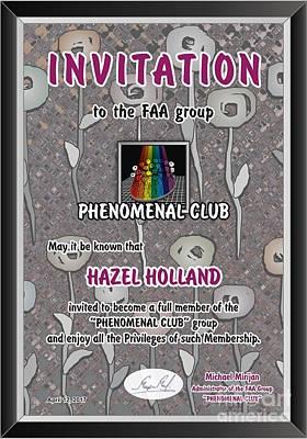 Painting - Phenomenal Club Invitation by Hazel Holland