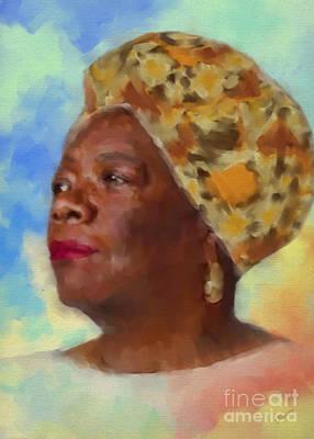 Civil Rights Movement Mixed Media - Phenomenal Woman by Olga Hamilton