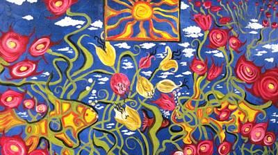 Alfredo Llana Painting - Pheobes Fish Tank by Alfredo Llana