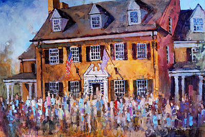 Painting - Phi Gamma Delta Unc by Dan Nelson