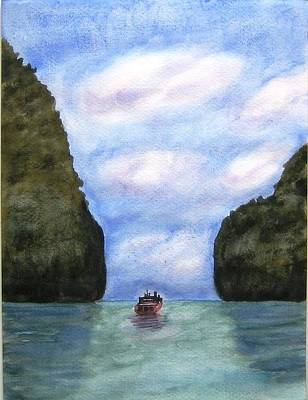 Phi Phi Islands Art Print by Monika Deo
