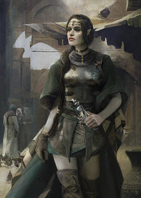 Elf Painting - Phial by Eve Ventrue