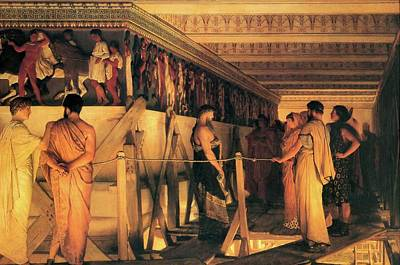 Painting - Phidias Shows Friends The Parthenon Frieze  by Lawrence Alma Tadema