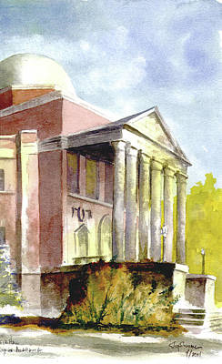 University Of Alabama Painting - Phifer Hall, University Of Alabama by Jim Stovall