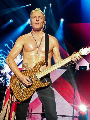 Rock Music Groups Photograph - Phil Collen Of Def Leppard 5 by David Patterson