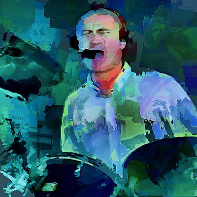 Concert Digital Art - Phil Collins Drums by Yury Malkov