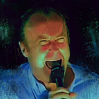 Concert Digital Art - Phil Collins Ha Ha Ha by Yury Malkov
