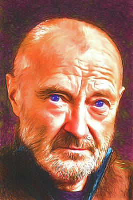 Digital Art - Phil Collins by John Haldane