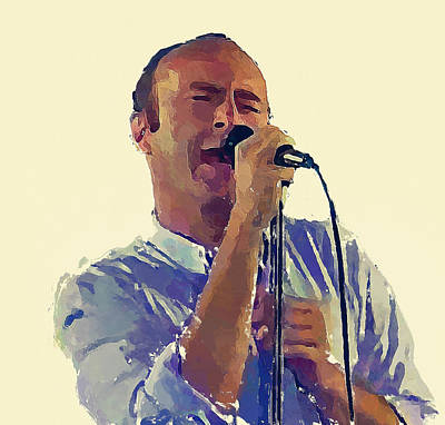 Concert Digital Art - Phil Collins Mama by Yury Malkov
