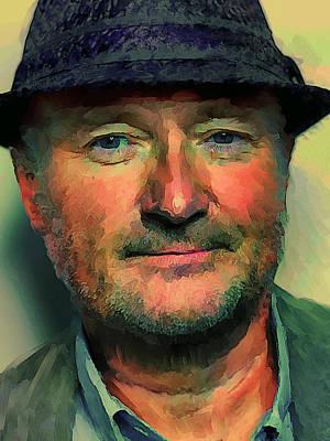 Sightseeing Digital Art - Phil Collins Portrait Genesis 12 by Yury Malkov