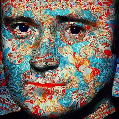 Genesis Digital Art - Phil Collins Portrait Genesis 13 by Yury Malkov