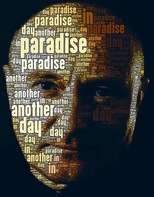 Phil Collins Word Portrait  Art Print