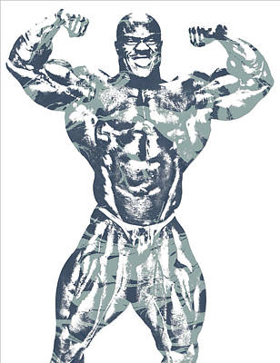 Muscle Mixed Media - Phil Heath Mr Olympia by Joe Hamilton