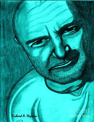 Superstar Drawing - Phil In Blue by Richard Heyman