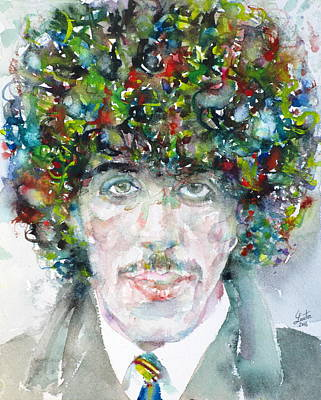 Phil Lynott - Watercolor Portrait.1 Original by Fabrizio Cassetta