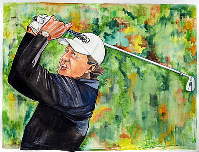 Phil Mickelson Print by Dave Olsen