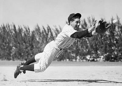 1940s Candid Photograph - Phil Rizzuto, As A Rookie Infielder by Everett