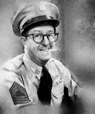 Television Painting - Phil Silvers By John Springfield by John Springfield