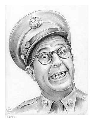 The King Drawing - Phil Silvers by Greg Joens