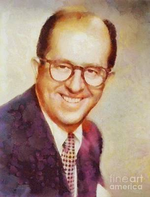 Silver Screen Legends Painting - Phil Silvers, Vintage Hollywood Legend by Sarah Kirk