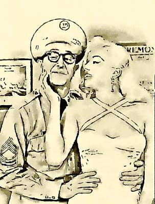 Phil Silvers With Diana Dors Sargent Bilko Art Print by John Springfield