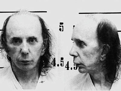 Phil Spector Mug Shot Horizontal Black And White 2009 Art Print by Tony Rubino