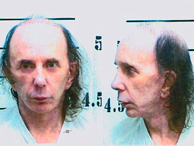 Phil Spector Mug Shot Horizontal Color 2009 Original by Tony Rubino