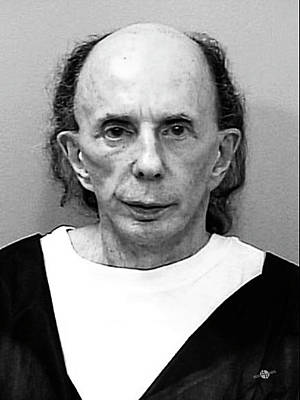 Phil Spector Mug Shot Vertical Black And White 2009 Art Print by Tony Rubino