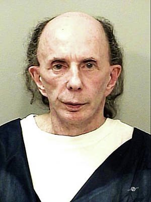 Phil Spector Mug Shot Vertical Color 2009 Original by Tony Rubino