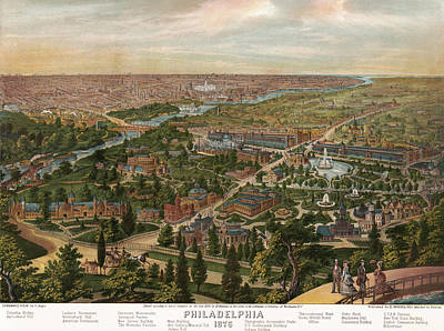 1876 Mixed Media - Philadelphia 1876 by Mountain Dreams