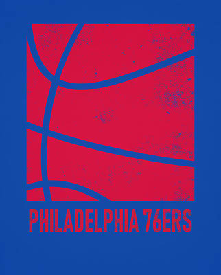 Mixed Media - Philadelphia 76ers City Poster Art 2 by Joe Hamilton