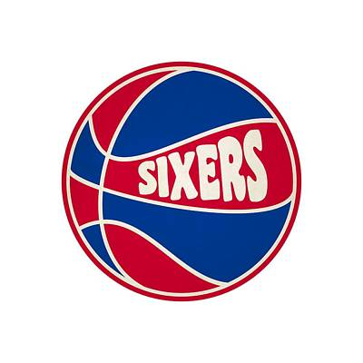 Philadelphia 76ers Retro Shirt Art Print by Joe Hamilton