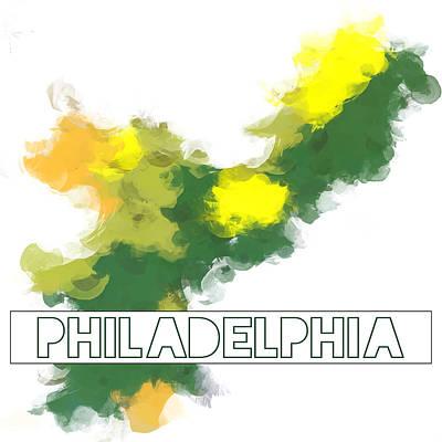 Phillies Digital Art - Philadelphia Abstract Color by Brandi Fitzgerald