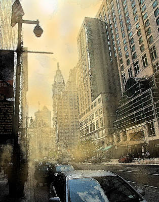 Digital Art - Philadelphia Afternoon by Ian  MacDonald