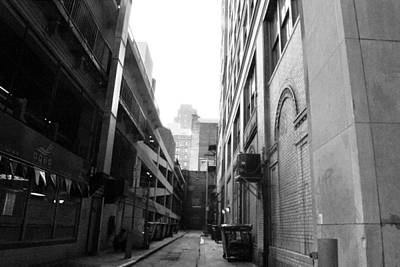 Photograph - Philadelphia Alley - Black And White by Matt Harang