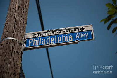 Photograph - Philadelphia Alley Street Sign by Dale Powell