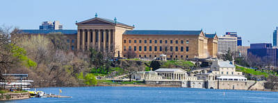 Philadelphia Art Museum And Waterworks Panorama Art Print by Bill Cannon
