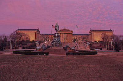 Philadelphia Art Museum At Dusk Print by Kenneth Garrett