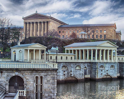 Philadelphia Art Museum At The Water Works  Art Print