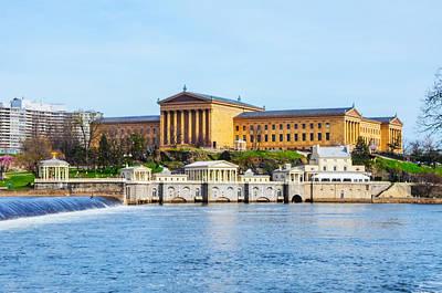 Waterworks Digital Art - Philadelphia Art Museum View by Bill Cannon