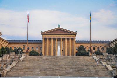 Rocky Digital Art - Philadelphia Art Museum Steps by Bill Cannon
