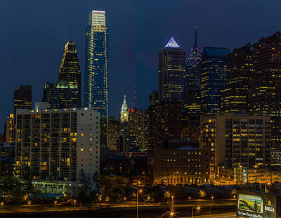 Philadelphia At Night Art Print by Capt Gerry Hare