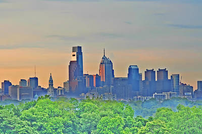 Phillies Digital Art - Philadelphia At Sunrise by Bill Cannon
