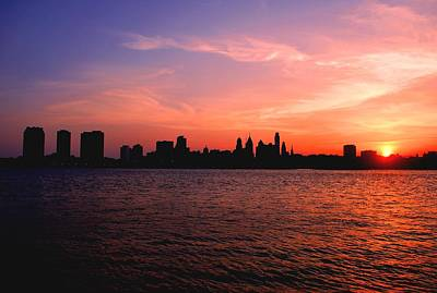 Photograph - Philadelphia At Sunset Skyline View by Matt Harang
