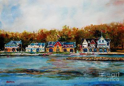 Philadelphia Pa Painting - Philadelphia Boat Houses by Joyce A Guariglia