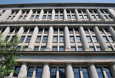Photograph - Philadelphia Building Pillars by Matt Harang
