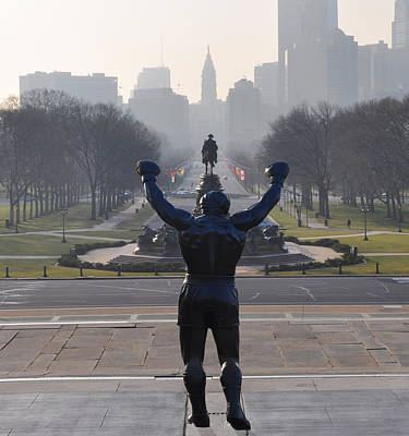 Philadelphia Champion - Rocky Print by Bill Cannon