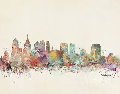 Philadelphia City  Art Print by Bri B