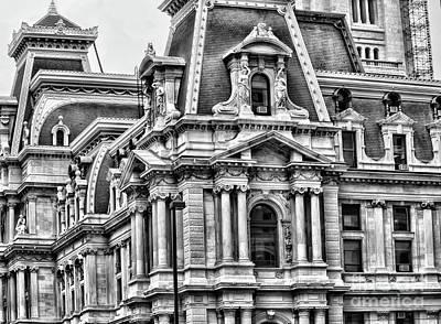 Philadelphia City  Hall Art Print by Chuck Kuhn