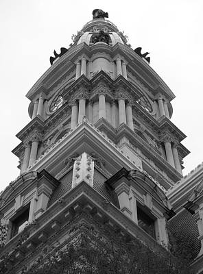Photograph - Philadelphia - City Hall Clock Tower by Richard Reeve